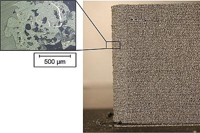 Demonstrator gefertigt aus einem graphitgefüllten Thermoplasten mittels additiver Fertigung