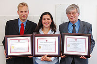 Awardees of the ANTEC 2015 Best Paper Award: Dipl.-Ing. Dominik Oberloer, Dipl.-Ing. Laura Flórez, Prof. Dr.-Ing. Walter Michali