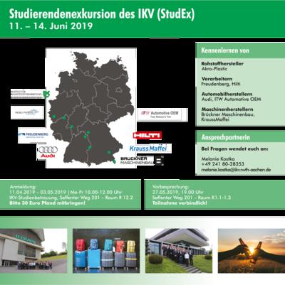 Informationen zur StudEx 2019 kompakt