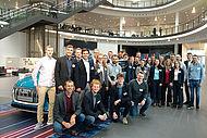 Die Studierenden bei der Audi AG