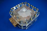Fuel cell stack with bipolar plates made of a plastic compound | photo: Eisenhuth/IKV