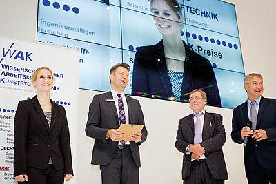 Preisträger bei der Verleihung der WAK Preise 2016