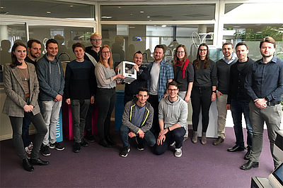 Gruppenbild der Exkursionsteilnehmer zu Ultimaker