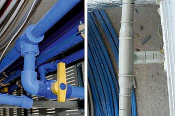 Rohrleitungen im Bauobjekt