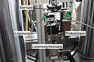 Zyklischer 3-Punkt-Biegeversuch an einem repräsentativen Probekörper zur Bestimmung der Ermüdungseigenschaften von GFK