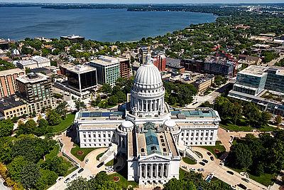 Blick auf die Universitätsstadt Madison (Wisconsin, USA)