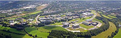 Blick auf den Campus Melaten