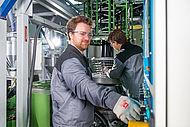 Blasfolienextrusionsanlage im IKV Technikum