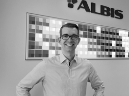 Photo of Eric Fautz, employed as a product specialist at ALBIS PLASTIC in Hamburg