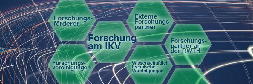 Schema Netzwerk der Forschungspartner und Förderer der IKV-Forschung