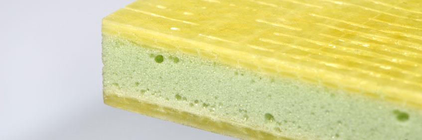 Polyurethane sandwich profile
