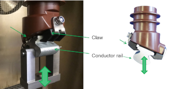 Component testing to investigate operational stability of retaining claws