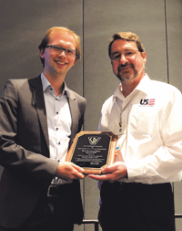 Awardee Florian Petzinka and Kevin R. Slusarz, US Exruders, Inc.