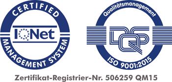 Die Arbeit der Abteilung Aus- und Weiterbildung ist zertifiziert nach ISO 9001:2015.