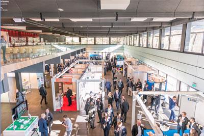 Blick auf die Industrieausstellung 2018 im Eurogress