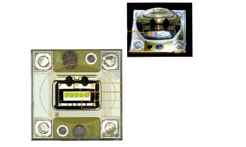Untersuchung von LED-Platinen mit Silikonoptik