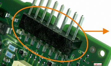 Plastic edge connectors
